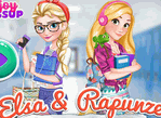 Elsa And Rapunzel Collegegirls